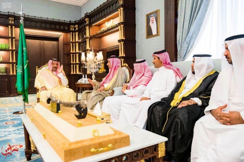 أمير منطقة الباحة يستقبل رئيس وأعضاء نادي الحجاز الرياضي