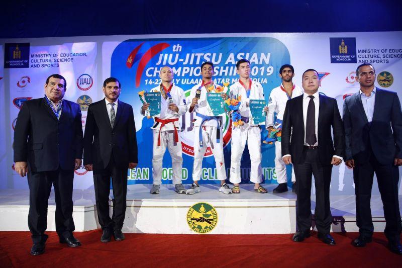 UAE FALCONS TOP MEN'S MEDALS TABLE AT 4TH JIU-JITSU ASIAN CHAMPIONSHIP