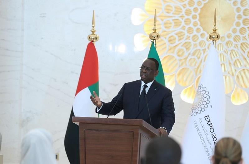 """رئيس السنغال: """"إكسبو 2020 دبي"""" تجمع عالمي يسهم في نشر السلام والتعايش بين الثقافات والحضارات"""