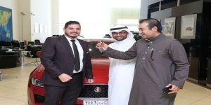 "All New Jaguar XE officially handed over to Jaguar's ""Forward Thinker"" Loai Naseem in Saudi Arabia"