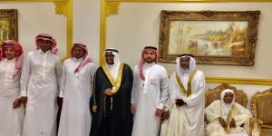 الشيخ علي بن عامر الحلوي يحتفل بزواح ابنه و الشيخ / مبروك مشني سعيد السعيد يشارك الفرحة