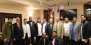 """العبد اللطيف يحتفل بتخرج """"عبدالله """" في جامعة لين الأمريكية."""