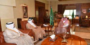 الأمير مشعل بن ماجد بن عبد العزيز محافظ جدة  يلتقي رئيس القطاع الغربي للكهرباء