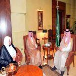 الأمير مشعل بن ماجد يستقبل مدير جامعة جدة وأمين عام مسابقة القرآن الكريم