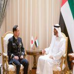 ولي عهد أبوظبي يلتقي رئيس أركان القوات المشتركة اليابانية