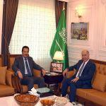 السفير الخريجي يلتقي سفير العراق لدى تركيا