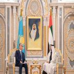 ولي عهد أبو ظبي يلتقي رئيس كازاخستان ويوقعان مذكرات تفاهم