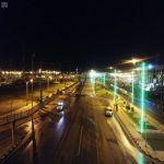"""عدسة """"واس"""" ترصد جوياً خلو شوارع محافظة طريف من المركبات والمارة تجاوباً مع أمر منع التجول"""