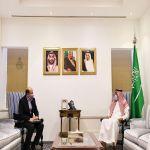 وكيل وزارة الخارجية لشؤون المراسم يستقبل القائم بأعمال سفارة الجمهورية التونسية لدى المملكة