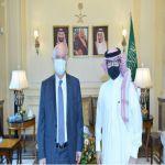 سفير المملكة لدى لبنان يستقبل رئيس جامعة رفيق الحريري