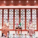 سمو الأمير فيصل بن فرحان يستقبل وزير خارجية مملكة البحرين