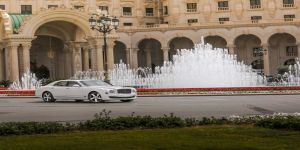 Bentley Mulsanne Speed 2015 at the World Luxury Expo in Riyadh